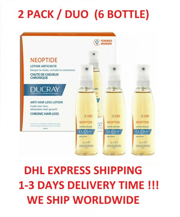2x Ducray Neoptide Lotion Anti Hair Loss Treatment For Women
