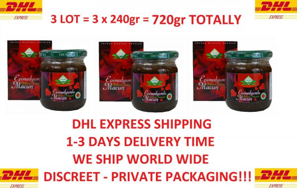 3 LOT Themra Epimedium Natural Paste Horny Goat Weed Aphrodisiac 240gr